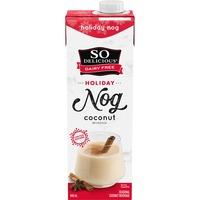 So Delicious Dairy Free Holiday Nog Coconut Beverage