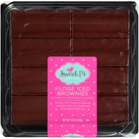 Sweet P's Moist, Rich Fudge Iced Brownies Topped With Scrumptious Chocolate Frosting