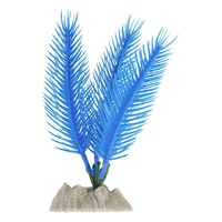 GloFish Tetra Plastic Aquarium Decor Plant - Fluorescent Blue - Small