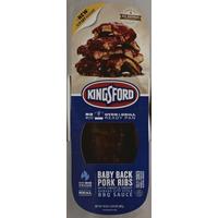 Kingsford Pork Ribs, Baby Back, with Sweet & Smoky Kansas City Style BBQ Sauce