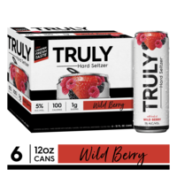 TRULY Hard Seltzer Wild Berry, Spiked & Sparkling Water