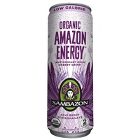 Sambazon Energy Drink, Organic, Low Calorie, Acai Berry