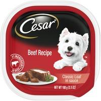 CESAR Beef Recipe Classic Loaf in Sauce Canine Cuisine
