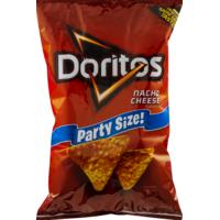 Doritos Tortilla Chips, Nacho Cheese Flavored, Party Size!