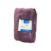 Interiors by Design Feather Touch Plum Bath Towel