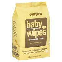 Everyone Baby Wipes, Unscented, Chamomile + Aloe, Moisturizing