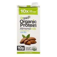 Orgain Organic Protein Almondmilk Unsweetened Vanilla