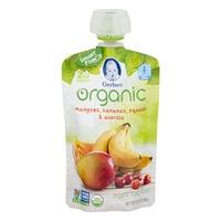 Gerber Organic Baby Food Mangoes, Bananas, Squash & Acerola