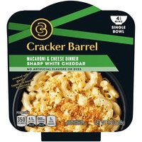 Cracker Barrel Sharp White Cheddar Macaroni & Cheese Single Bowl Dinner