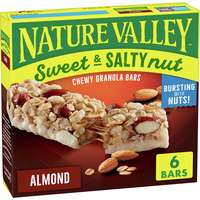 Nature Valley Granola Bars, Sweet and Salty Nut, Almond, 6 Count