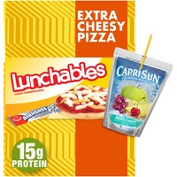 Lunchables Extra Cheese Pizza Meal Kit with Capri Sun Pacific Cooler Drink & Airheads White Mystery Candy