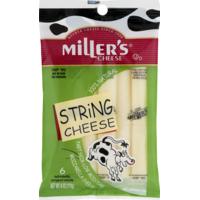 Miller's Cheese Mozzarella String Cheese - 6 CT