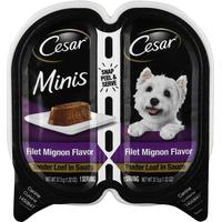 CESAR Canine Cuisine, Filet Mignon Flavor, Tender Loaf in Sauce, Minis