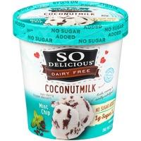 So Delicious Dairy Free Coconutmilk No Sugar Added Mint Chip Frozen Dessert