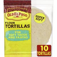 Old El Paso Flour Tortillas, Soft Tacos and Fajitas, 10 Count