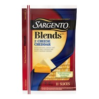 Sargento® Blends™ Two Cheese Sliced Natural Cheddar Cheese