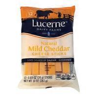 Lucerne Natural Mild Cheddar Cheese Sticks