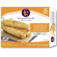 Feel Good Foods Chicken and Vegetable Egg Rolls Gluten Free