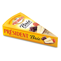 Président Soft Ripened Brie Cheese, Wedge