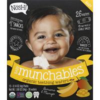 Nosh! Teething Wafers, Organic, Baby Munchables, Banana & Mango