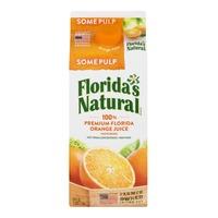 Florida's Natural 100% Premium Florida Orange Juice Some Pulp
