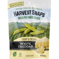 Harvest Snaps Green Pea Snack Crisps, White Cheddar, Sharp & Creamy