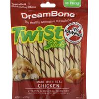 DreamBone Twist Sticks Dog Chews Vegetable & Chicken - 50 CT