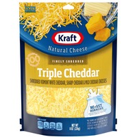 Kraft Natural Cheese Finely Shredded Triple Cheddar Cheese