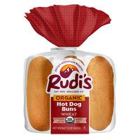 Rudi's Rocky Mountain Bakery Organic Wheat Hot Dog Buns