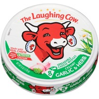 The Laughing Cow Creamy Garlic & Herb Spreadable Cheese Wedges