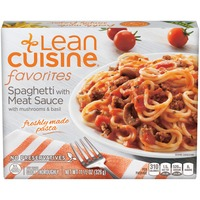 Lean Cuisine Favorites Spaghetti with Meat Sauce with Mushrooms and Basil