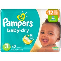 Pampers Baby Dry Diapers Size 3 Jumbo Pack 32 Count Diapers