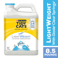 Purina Tidy Cats Low Dust Clumping Cat Litter, LightWeight Glade Clear Springs Multi Cat Litter