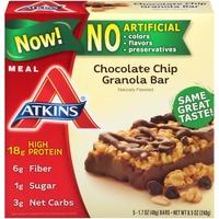 Atkins Chocolate Chip Granola Meal Bars
