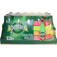 Perrier Strawberry/Lime/L'Orange/Watermelon Sparkling Natural Mineral Water