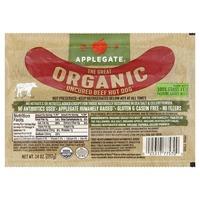 Applegate Hot Dog, Uncured, Organic, Beef
