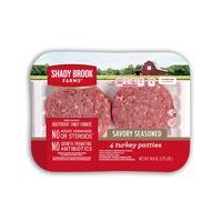 Shady Brook Farms Savory Seasoned Turkey Patties 4 count