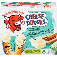 The Laughing Cow White Cheddar Flavor Whole Grain Breadsticks Cheese Dippers