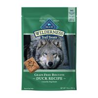 Blue Buffalo Wilderness Trail Treats High Protein Grain Free Crunchy Dog Treats Biscuits, Duck Recipe