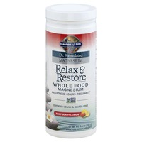 Garden of Life Magnesium, Whole Food, Relax & Restore, Raspberry Lemon
