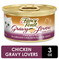 Purely Fancy Feast Gravy Wet Cat Food, Gravy Lovers Chicken Feast in Grilled Chicken Flavor Gravy