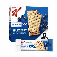 Kellogg's Special K Pastry Crisps, Breakfast Bars, 100 Calorie Snacks, Blueberry
