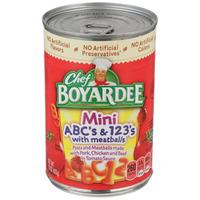 Chef Boyardee Cs And 123s With Meatball Mini Bites Pasta
