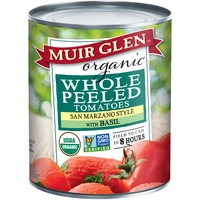 Muir Glen Whole Peeled San Marzano Style with Basil Tomatoes