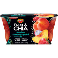 Del Monte Fruit & Chia Peaches in Strawbery Dragonfruit Flavored Chia Plastic Fruit Cup Snacks