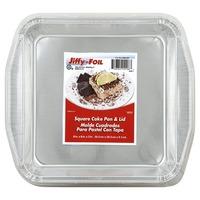 Jiffy-Foil Cake Pan & Lid, Square
