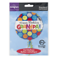 Anagram Standard Foil Balloon Happy Birthday Grandpa
