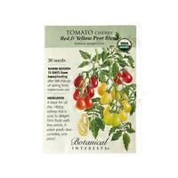 Botanical Interests Organic Tomato Cherry Red Yellow Pear