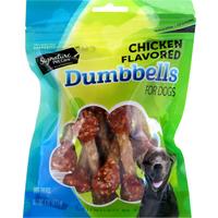 Signature Pet Dog Treats, Chicken Flavored, Dumbbells