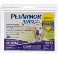PetArmor Plus For Dogs 45-88 lbs - 3 CT